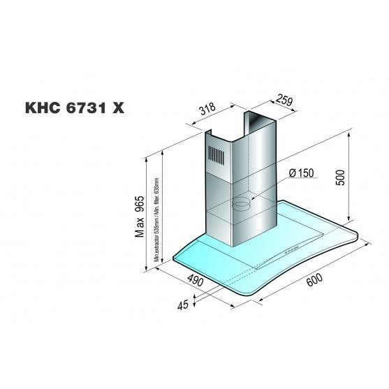 Вытяжка Korting KHC 6731 X