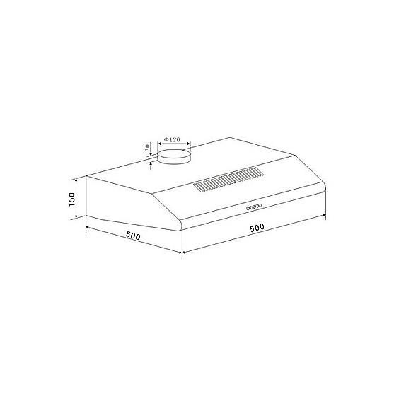 Вытяжка Maunfeld MP 350-1 INOX Gl