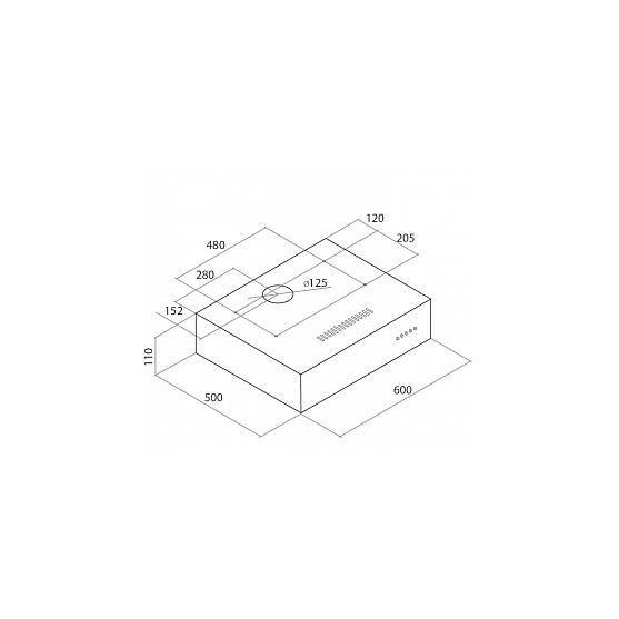 Вытяжка Maunfeld BOX 60 INOX (2 мотора) 600 мм / нерж. сталь