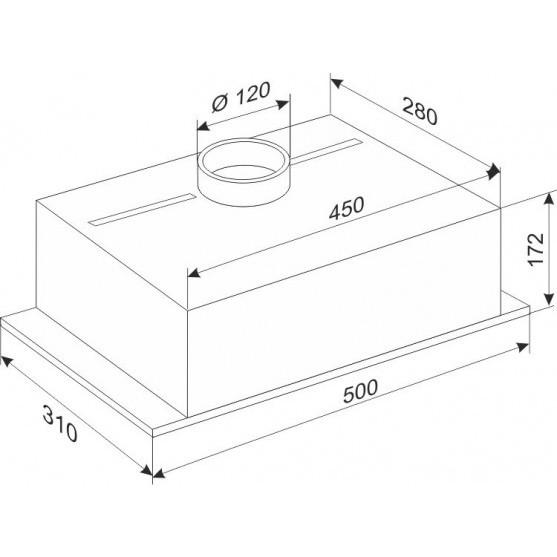 Вытяжка Ukinox Стандарт 500.310.550 Steel
