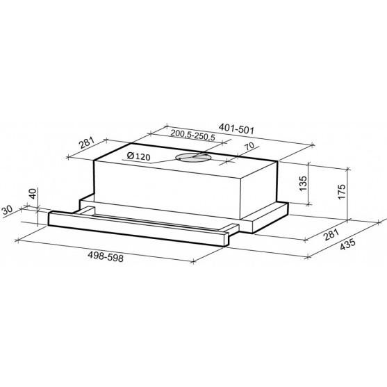 Вытяжка Shindo MIO sensor 60 B/BG 3E