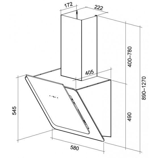 Вытяжка Shindo PRIME sensor 60 W/WG 3ET