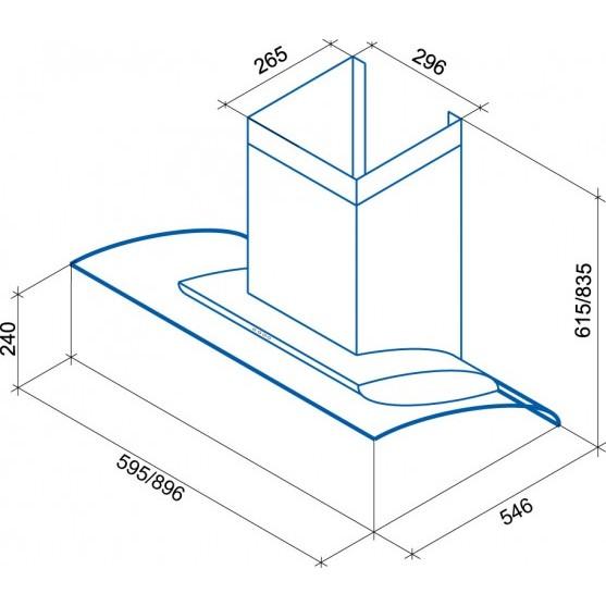Вытяжка Shindo AVIOR sensor 60 SS/BG 3ETC