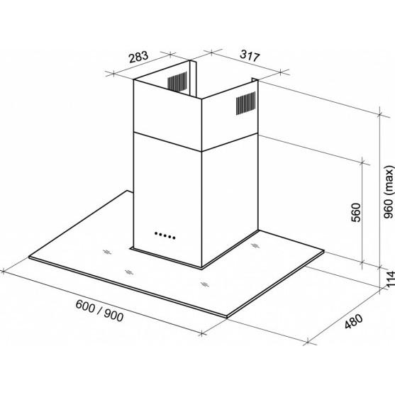 Вытяжка Shindo GANIMED sensor 60 SS/BG 4ET