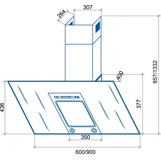 Вытяжка Shindo PALLADA sensor 90 SS/BG 4ETC