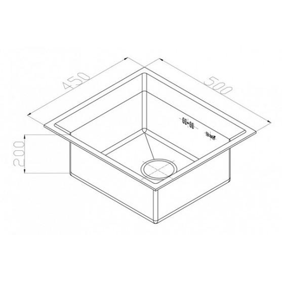 Мойка ZorG INOX - PVD SZR-4550 BRONZE (500х450 мм)