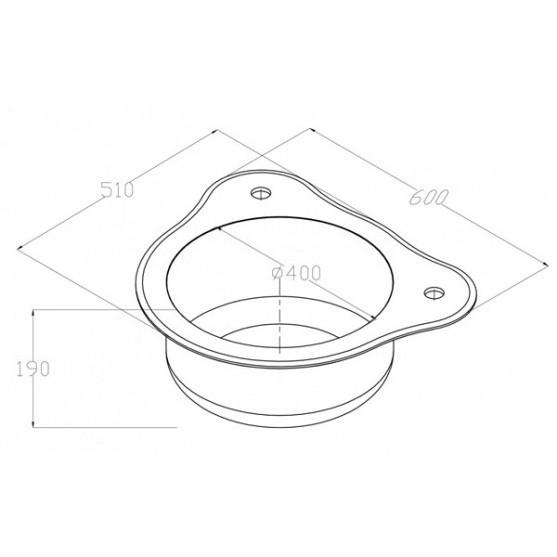 Мойка ZorG INOX-GLASS GL-510-BLACK-BRONZE (600х510 мм)