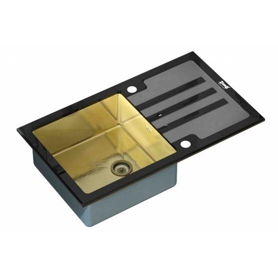 Мойка ZorG INOX-GLASS GL-7851-BLACK-BRONZE (780х510 мм)