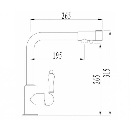 Смеситель Zorg ZR 320 YF-50