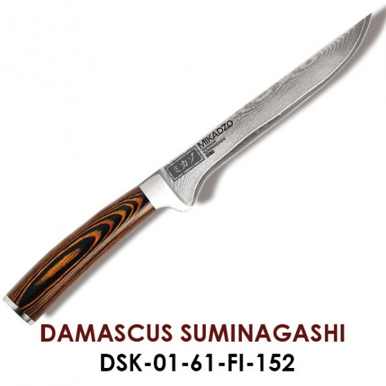 Нож филейный Omoikiri DAMASCUS SUMINAGASHI 4996088