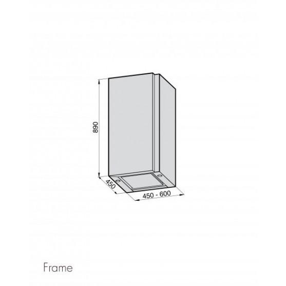 Вытяжка Galvamet FRAME 45/A IX-WHT