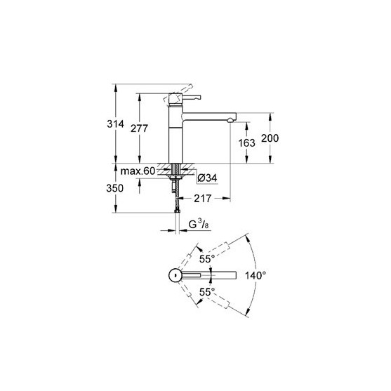 Смеситель Grohe Essence 32105DC0 супесталь